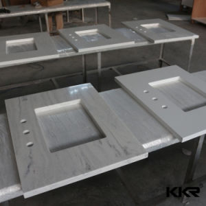 Custom Made Artificial Stone Solid Surface Vanity pictures & photos