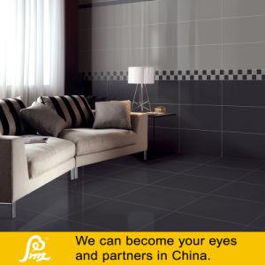 Pure Jet Black Polished Porcelain Tiles pictures & photos