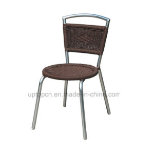 Aluminum PE Rattan Bistro Dining Chair with Armless (SP-OC826) pictures & photos
