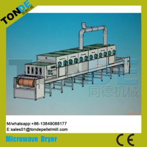 Tunnel Microwave Tea Herb Food Drying Sterilization Machine pictures & photos