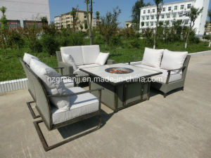 Fire Pit Wicker 5 Pieces Sofa Dining Set Outdoor Furniture pictures & photos