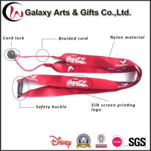 Personalised Nylon Lanyard Souvenir Braided Cord Lanyard /Printed with Your Logo with Text
