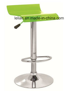 Colorful Acrylic Metal Swivel Bar Stool (LL-BC015) pictures & photos