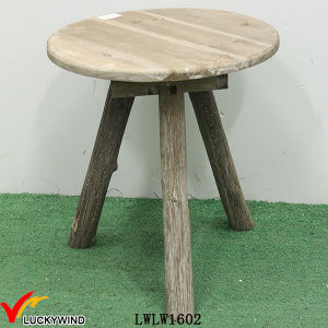 Round 3 Legs Vintage Rustic Wood Bed Side Table pictures & photos