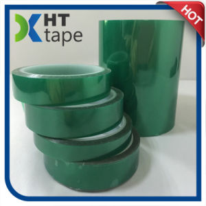 Green High Temperature Polyester Silicone Adhesive Insulation Tape pictures & photos