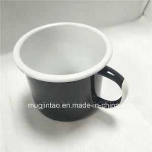 Kitchenware Enamel Mug Tin Cup Camping White Handle Printing pictures & photos