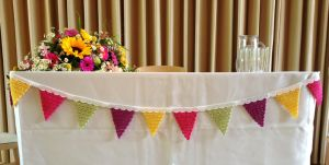 Table Decorated Flag Banner Artificial Garland Birthday Party Bunting pictures & photos