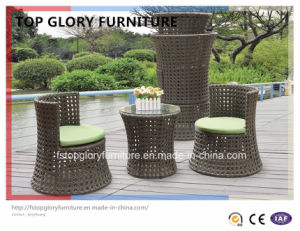 2PCS Popular Competitive Stacking Rattan Garden Vase Sofa Set (TGBS-004) pictures & photos