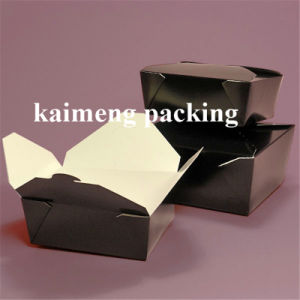 Waterproof Black Color Printed Paper Package Box with PE Film pictures & photos