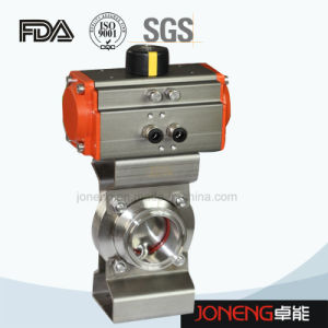 Stainless Steel Sanitary Pneumatic Actuated Butterfly Valve (JN-BV1006) pictures & photos