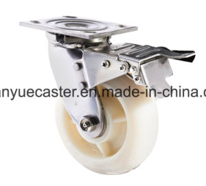 Side Brake PA Heavy Duty Caster, Stainless Steel Caster pictures & photos