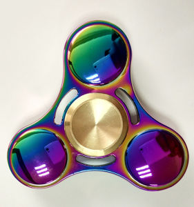 Customize Anti Stress Rainbow Gyroscope Toy Triangle Metal Finger Spinner pictures & photos