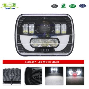 "LED6457 5X7"" / 6X7 Inch 90W Projector LED Sealed Beam Headlight Assembly with Angel Eyes DRL for Jeep Wrangler Yj Cherokee Xj Trucks pictures & photos"
