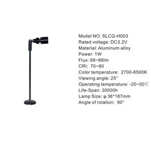 High Pole 1W Standing LED Cabinet Light for Showcase (SLCG-H003) pictures & photos