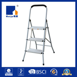 Grey Paint Steel Frame Aluminium Step Ladder pictures & photos