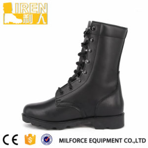 Hot Sell Black Full Leather Military Tactical Combat Boot pictures & photos