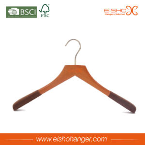 Eisho Eco-Friendly Black Rubber Finish Luxury Wooden Clothes Hanger pictures & photos