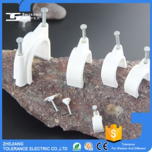 PE material Plastic Nail Cable Clip