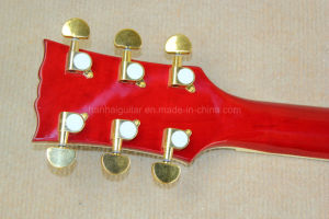 Hanhai Music/Cherry Sunburst 335 Electric Guitar with Gold Hardware pictures & photos
