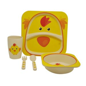 Eco-Friendly Bamboo Fiber Kids Dinnerware Sets (YK-BS1003) pictures & photos