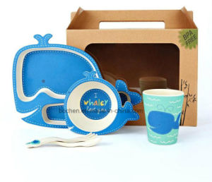 BPA Free Bamboo Fiber Tableware Dinnerware Set for Kids (BC-BB-SU2007) pictures & photos