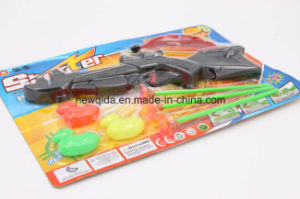 Cheap Children Pistola Gift Plastic Soft Gun Toy with Bow