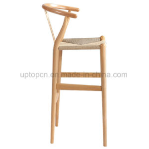 Elegant Ash Wood High Wood Bar Chair for Dining (SP-EC620) pictures & photos