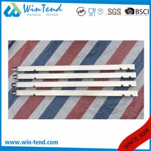 Square Tube Stainless Steel Shelf Reinforced Robust Construction Solid Backsplash Working Table with Adjustable Leg pictures & photos