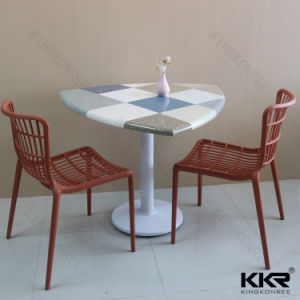 Easy Clean Glacier White Imitation Marble Table Set (170622) pictures & photos