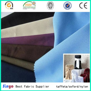 Textile Woven Pd Plain Dyed Mini Matt 300d Table Cloth Fabric pictures & photos