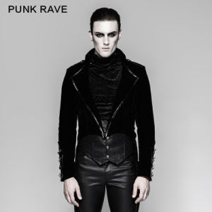 Gothic Gown Men Velvet Jacket Swallow-Tailed Dress Jackets (Y-737) pictures & photos