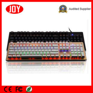 Color Changeable Blue Switch PC Keyboard Mechanical pictures & photos