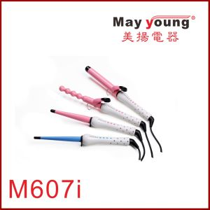 Wholesale Cheap Gourd-Shaped LED Ceramic Coating Hair Curler pictures & photos