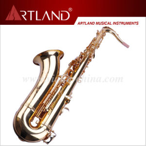 Bb Key Golden Lacquer Finish Professional Tenor Saxophone (ATS4506) pictures & photos
