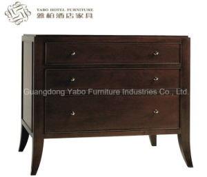 Hotel Solid Wood Bedside Cabinet with Drawers. pictures & photos
