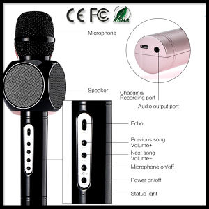 E103 Portable Wireless Bluetooth Microphone with Mic Speaker Condenser Fashion Home Mini Karaoke Player KTV Singing Record pictures & photos