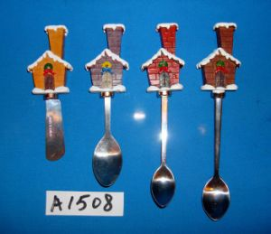 Christmas House Cheese Knives with Resin Handle pictures & photos