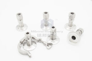 1/4inch NPT Tri-Clamp Compression Fitting Hydraulic Fittings 2 Way Stright Male Connetor pictures & photos