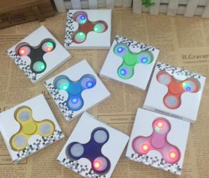 Wholesale Hight Quality Relieve Stress ABS Stainless Steel LED Light Hand Fidget Spinner Toys Hot Popular pictures & photos