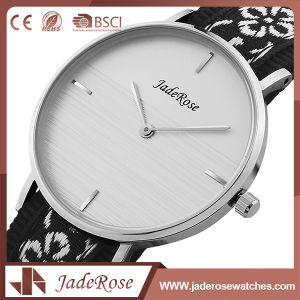 Chinese Style Black Stainless Steel Quartz Ladies Watch pictures & photos