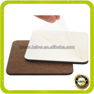 China Printable Blank Dye Sublimation Wood MDF Square Coasters pictures & photos