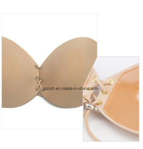 Self Adhesive Strapless Bandage Stick Silicone Push up Invisible Bra pictures & photos