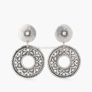 2017 New Fashion Round Earrings Stud Silver Plated with Czech Crystal Women Earrings Wholesale Jewelry pictures & photos