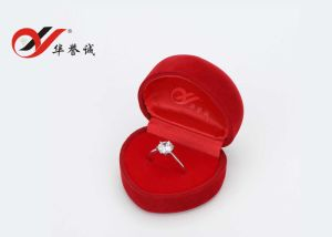 Heart Shape Red Velvet Jewelry Box Set pictures & photos