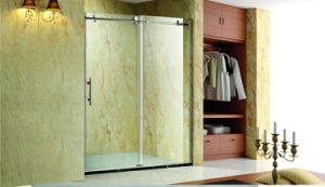 New Design Shower Cubicles with Bow Front Single Sliding Door pictures & photos