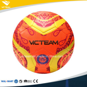 Vibrant Colourful Machine Stitched Soccer Ball pictures & photos