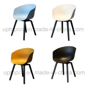 Wholesale Plastic Chair with Wooden Chair Base in Various Color (SP-UC518) pictures & photos