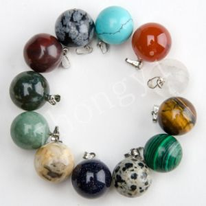 Assorted Natural Gem Stone Ball Charms Necklace Pendants pictures & photos