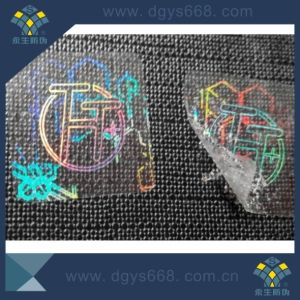 Custom Transparent Easy Destroyed 3D Laser Self-Ahesive Hologram Sticker pictures & photos
