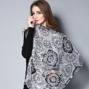 Black and White Digital Printing Silk Scarves pictures & photos